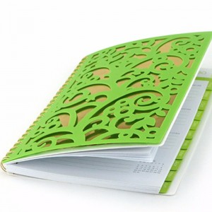 laser cut PP cover notebook